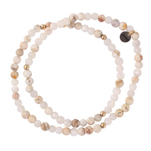 Bracelet 4 Perles Blanc