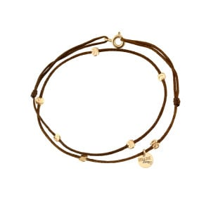 Bracelet Double Cordon Sublime 7 Pépites Or