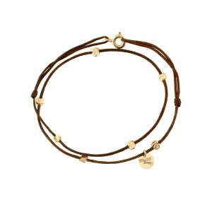 Bracelet Double Cordon Sublime 7 Pépites Or