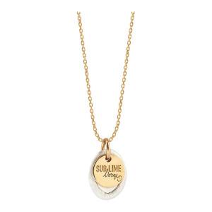 Collier Sublime Médaille XS Argent Or