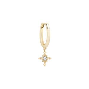 Mini Créole Stella Diamant Or Jaune (vendue à l'unité)