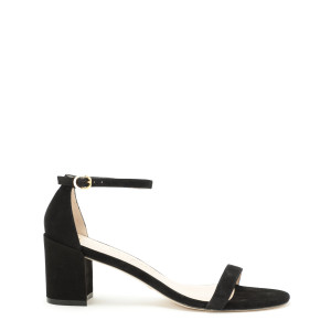 Sandales Simple Cuir Suédé Noir