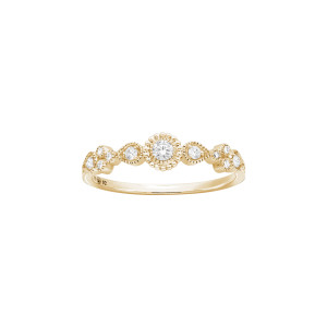 Bague Simple Swan Or Diamants