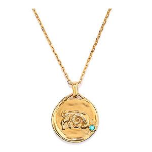 Collier Talisman Mini Astro Capricorne Turquoise