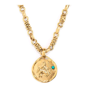 Collier Talisman Astro Sagittaire Turquoise