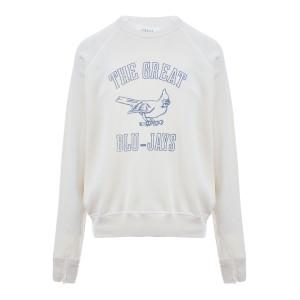 Sweatshirt The College Coton Blanc Délavé