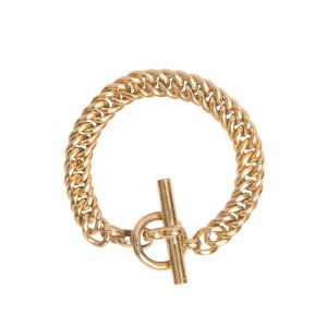 Bracelet Curb Large Plaqué Or