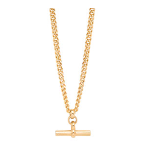 Collier T-Bar Curb Plaqué Or