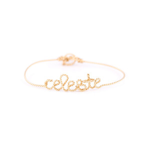 Bracelet Fil Torsadé Personnalisable Gold Filled 14K
