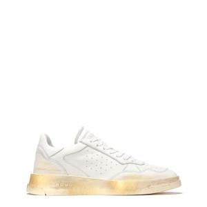 Baskets Tweener Low Gold Cuir Blanc