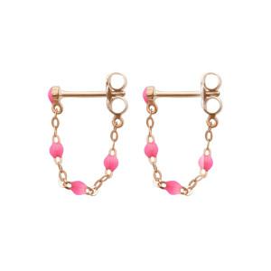Boucles d'oreilles Perles Résine