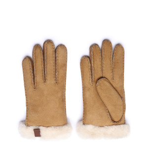 Gants Shorty Cuir Chestnut