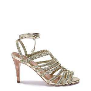 Sandales à Talons Isabel Cuir Doré