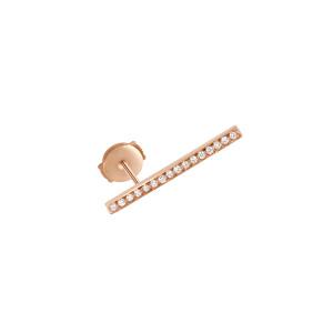 Boucle d'oreille Medellin GM Or Rose Diamants (vendue à l'unité)
