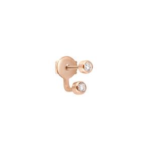Boucle d'oreille Mademoiselle Else Or Rose Diamant (vendue à l'unité)