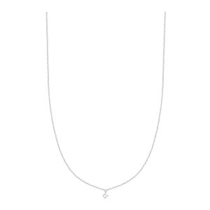 Collier Stardust Or Blanc 1 Diamant