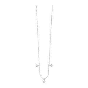 Collier Stardust Or Blanc 3 Diamants