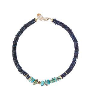 Collier Brazilia Coquillage Bleu Turquoise