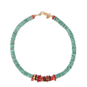 Collier Kally Coquillage Turquoise Gorgone