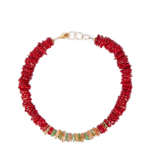 Collier Malone Coquillage Rouge