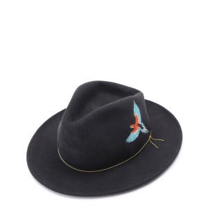 Chapeau The Dakota Laine Gris Turquoise