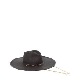 Chapeau Le Livy Junior Paille Noir