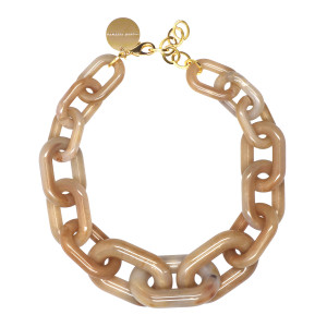 Collier Big Beige Marble