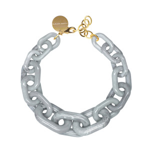 Collier Big Light Grey Marble