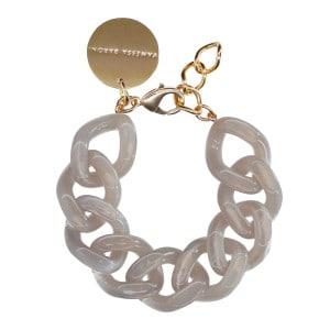 Bracelet Flat Milky Grey