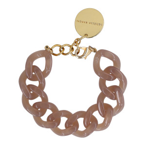 Bracelet Flat Taupe Clair