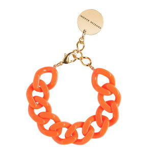 Bracelet Flat Neon Orange