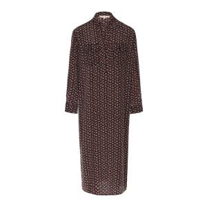Robe Maori Soie Imprimé Ebène