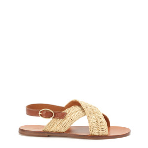 Sandales Plates Naturel