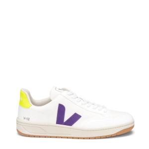 Baskets V-12 B-Mesh Blanc Violet Jaune Fluo