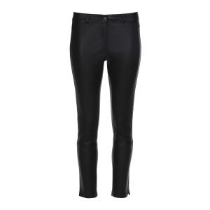Pantalon Nine Cuir Agneau Softy Stretch Noir