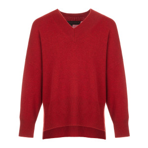 Pull Maille Laine Rouge