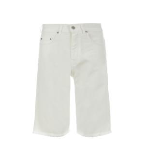 Bermuda Flots Coton Blanc