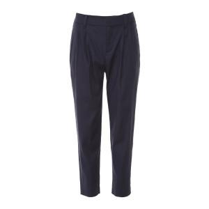 Pantalon Taille Haute Bleu Marine