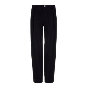 Pantalon Taille Haute Effilé Noir