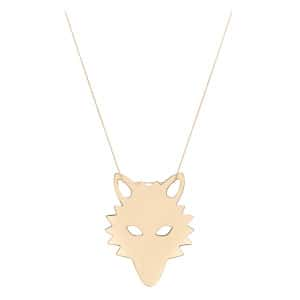 Collier Wolf Jumbo Or Rose