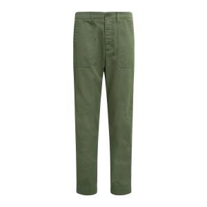Pantalon Tucket Coton Twill Vert
