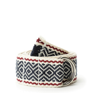 Ceinture Webbed Roadtrip Coton Navy Bordeaux