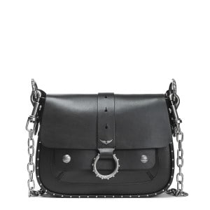 Sac Smooth Cuir Noir, Collection Kate Moss