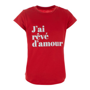 Tee-shirt Woop JRDA Coton Coquelicot