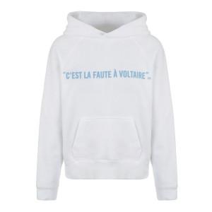 Sweatshirt Hoodie Georgy Voltaire Coton Blanc