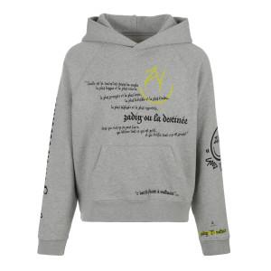 Sweatshirt Hoodie Georgy Coton Gris Chiné