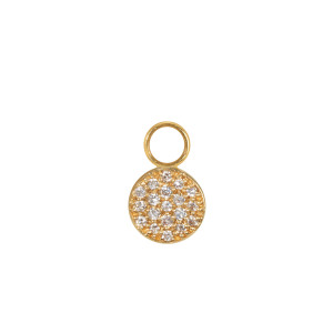 Mini Charm Pastille Diamants Or