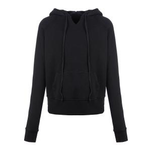 Sweatshirt Rayne Coton Noir Délavé