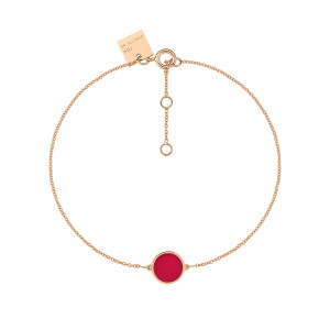 Bracelet Ever Mini Disc Or Rose Corail