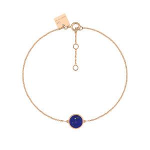 Bracelet Ever Mini Disc Or Rose Lapis Lazuli